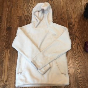The North Face Sherpa Fleece Hooded Pullover Cream